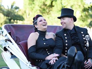 Steampunk/Edwardian wedding at The Howey Mansion!