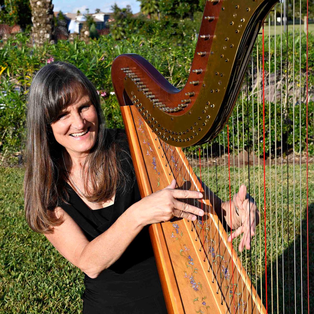 Beautiful harpist!