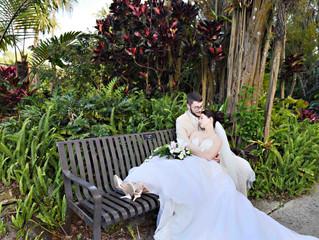 Megan and Andrew's Harry P. Leu Gardens wedding!