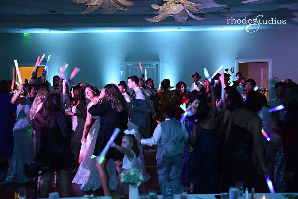 Reception dancing, crazy hour, at the Orlando Omni Championsgate, Orlando wedding photography