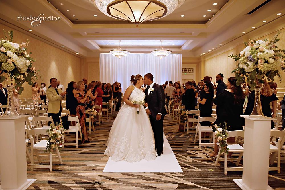 Wedding ceremony at Orlando Omni Championsgate, Orlando wedding photography