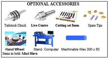 PERT Industrials CNC Mechanical Workshop Training Lathe Accessories