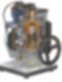 Cutaway Internal Combustion Pert Industrials Automotive Engine