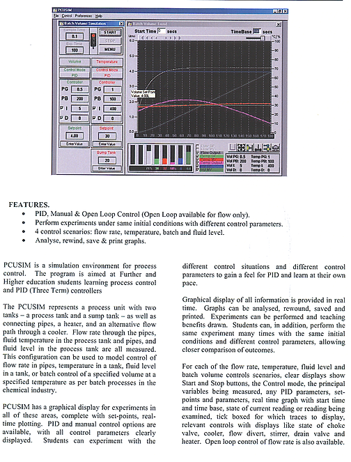 PERT Industrials instrumentation Process Control Software