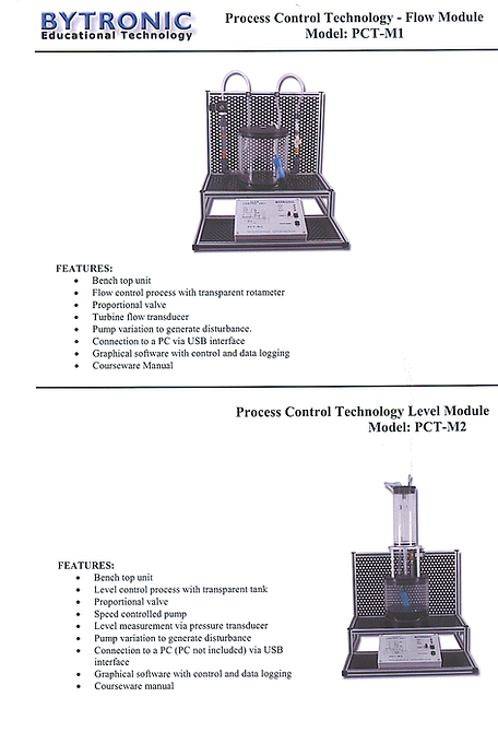 PERT Industrials instrumentation Process Control PC Controlled Single Process