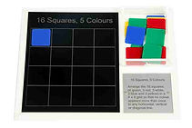 KVD Technologies Maths Puzzles 16 Squares 5 Colours
