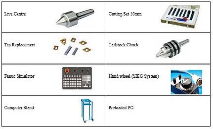 PERT Industrials CNC Mechanical Workshop Bench Lathe Accessories