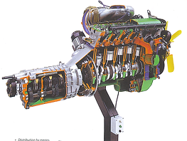 Cutaway Modern Petrol Engine Pert Industrials Automotive