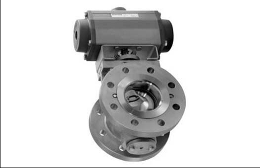 Cutaway of valve with single action
