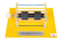 KVD Technologies Physics Exhibits Rotating Magnets with Iron Filings