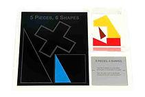 KVD Technologies Maths Puzzles 5 Pieces 6 Shapes