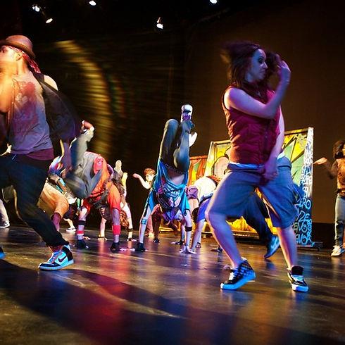 Hip-Hop Dancers onstage dancing