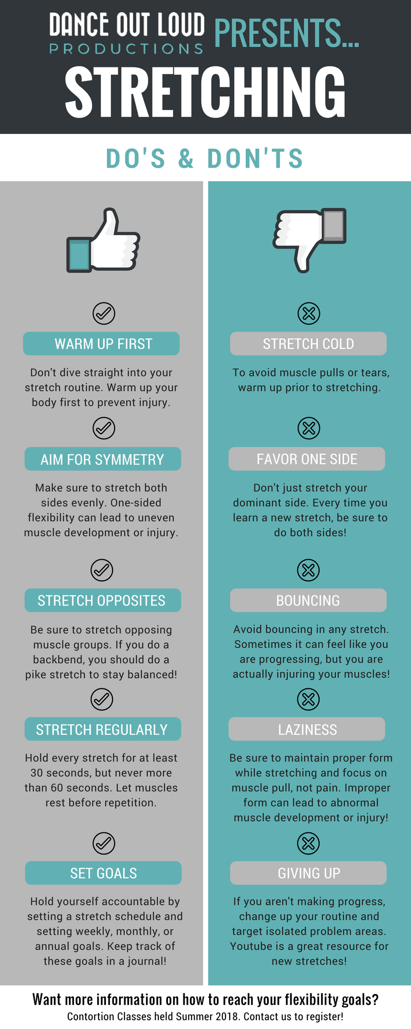Infographic: Stretching do's and don'ts