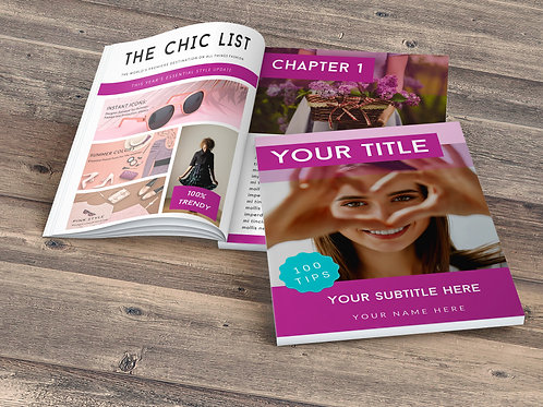 "¨Hot Pink""Ebooks or Magazine Template"