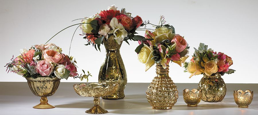 Flower Vases of various sizes that all coordinate