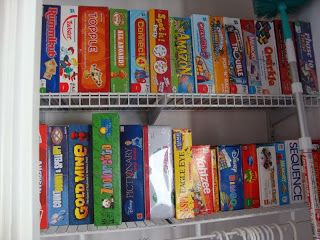 Young Children's Board Games on a Shelf