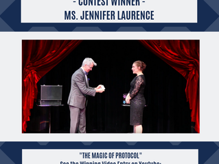 Ms. Laurence Wins International Scholarship Contest to Attend The Protocol School of Washington