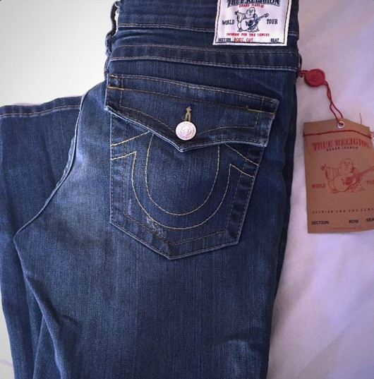 A pair of True Religion Jeans