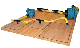 Wood Floor Rescue Mat Drying System