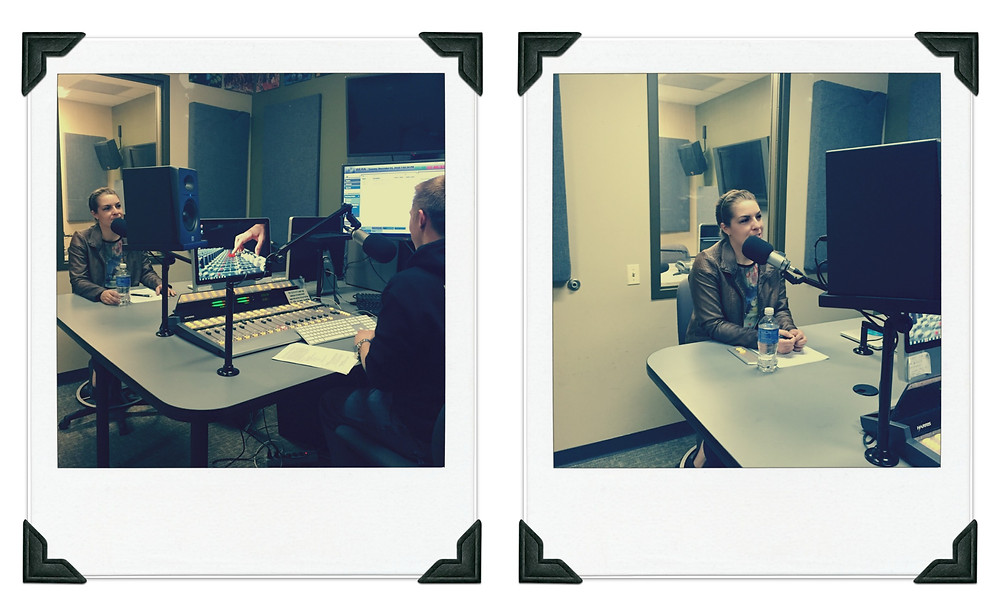 Ms. Laurence in the radio studio at WLRA 88.1fm