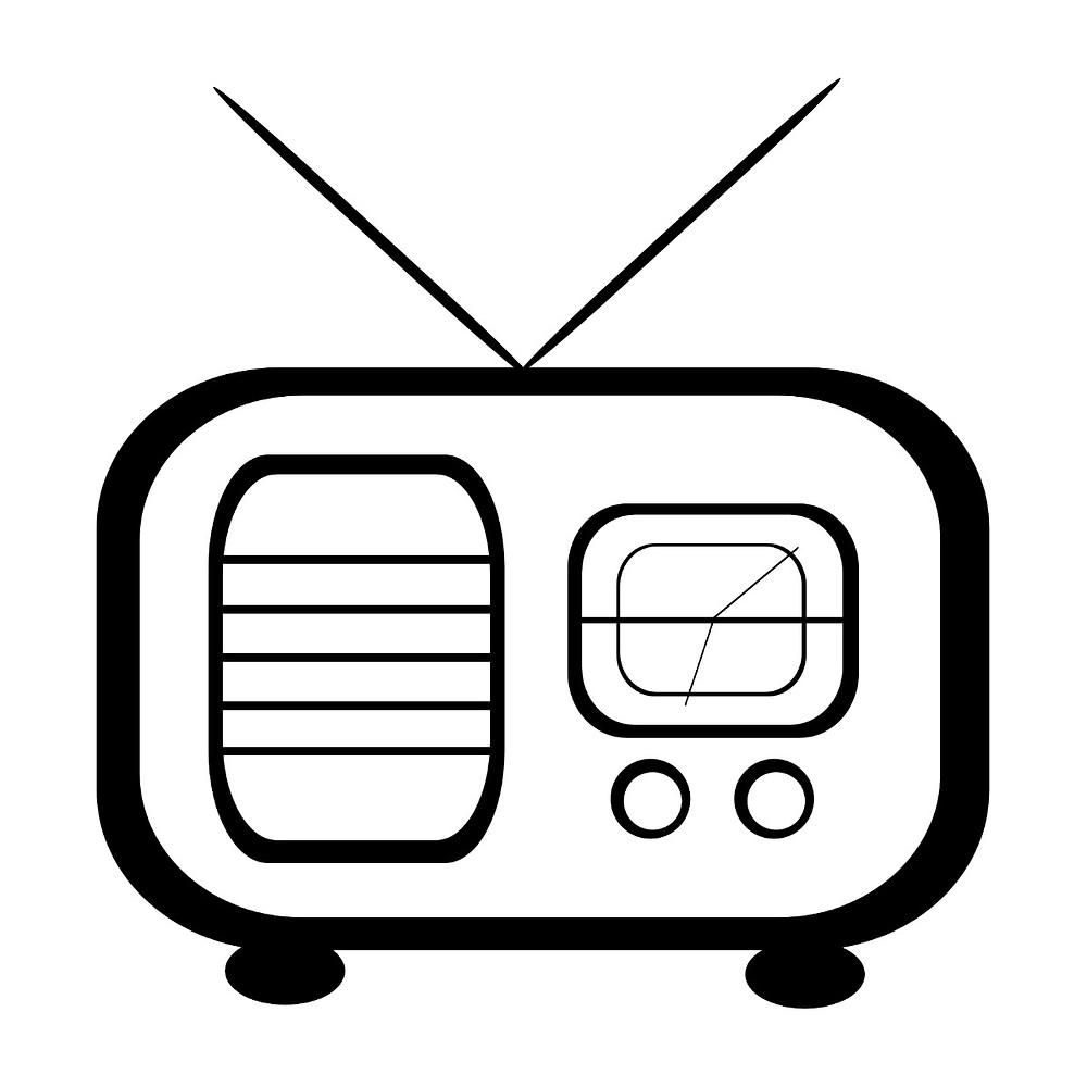 Black and White Radio Graphic