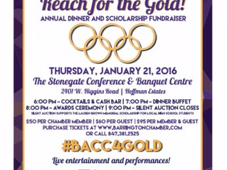 """Ms. Laurence Honored at """"Barrington Reach for the Gold"""" Awards Gala"""