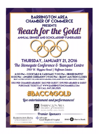 "Barrington ""Reach for the Gold"" Event Invitation"