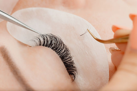 Eyelashes extensions. Eyelash extension