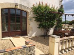 Large private terrace area