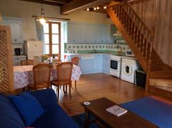 Large open plan kitchen lounge