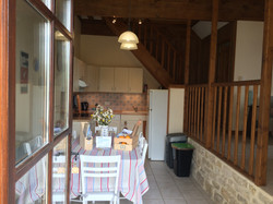 Open plan fully equipped kitchen