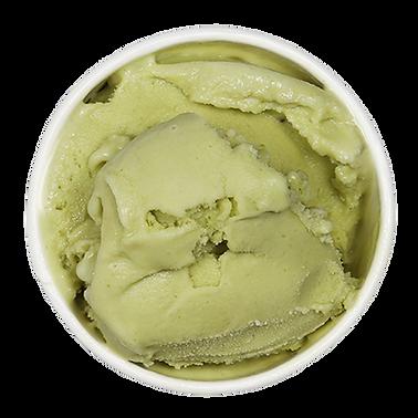 Helado de pistacho cucharada