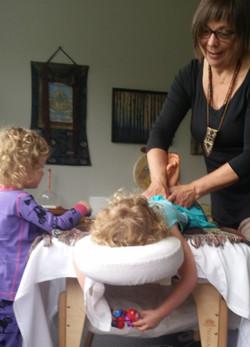 Beth Working on Child