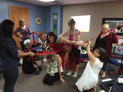 Beth Ann teaching women's pelvic awareness