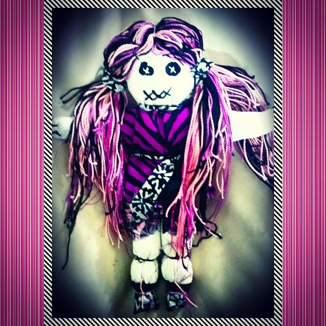 Instagram - #handmade with #love  #voodoodoll #voodoo #pink #purple #dreads #loc