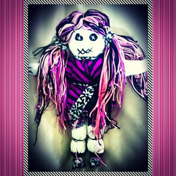 Instagram - #handmade with #love  #voodoodoll #voodoo #pink #purple #dreads #loc