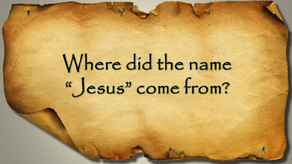 Graceful Perseverance: The True Birth Name of Jesus-11/08