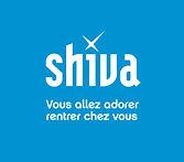 Logo Shiva Fond bleu - Signature 2 ligne