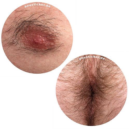 "250 Nipple & Anus Sticker ""Hairy"" 5cm"