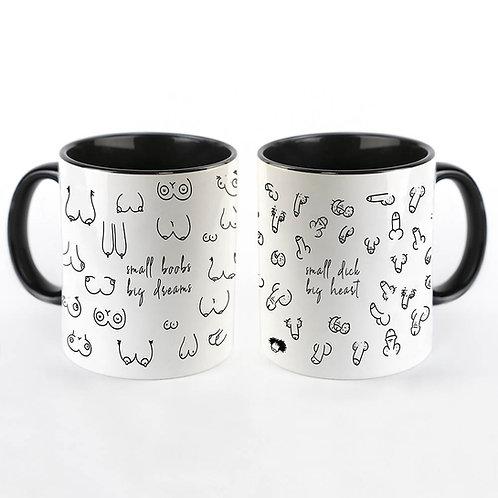 """Couple goals Kaffeetassen """"boobs & dick"""""""