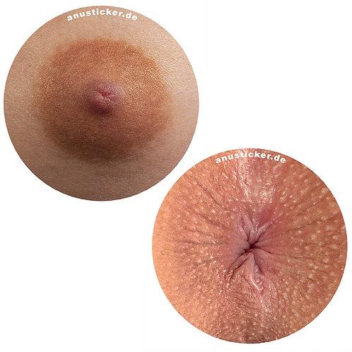"100 Nipple & Anus Sticker ""Sunny"" 5cm"