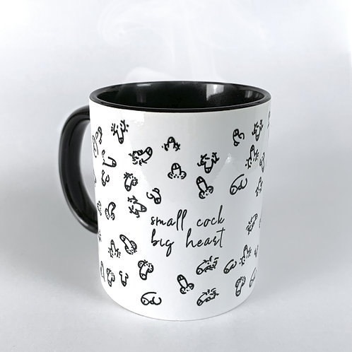 "Kaffeetasse ""small cock - big heart""*¹"