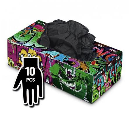 Boite gants a usage unique noir taille S
