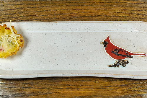 Handmade White Ceramic Serving Tray / Olive Tray / Cracker Dish