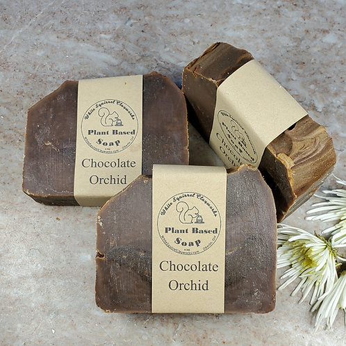 Chocolate Orchid Scented All Natural Handmade Soap - 4oz