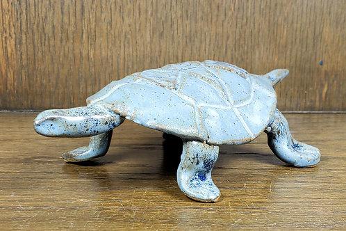 Handmade Blue Ceramic Turtle