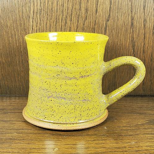 Handmade Ceramic Rippled Bright Yellow Mug