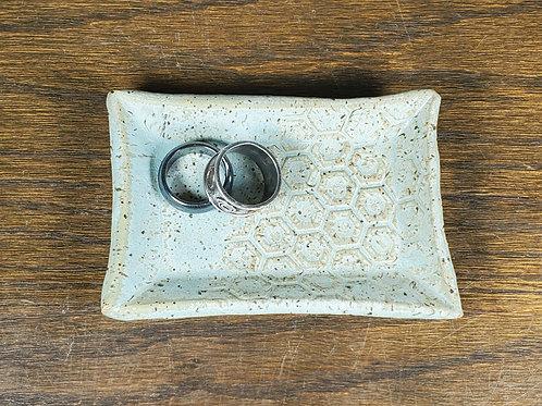 Handmade Sea Green Ceramic Trinket Dish / Jewelry Tray
