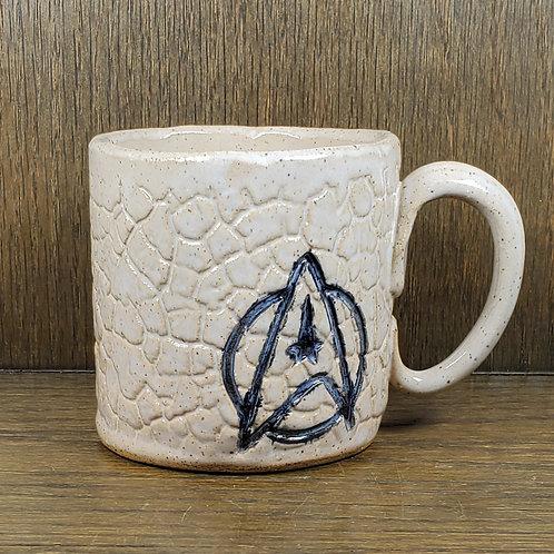 Handmade Ceramic White Star Trek Mug