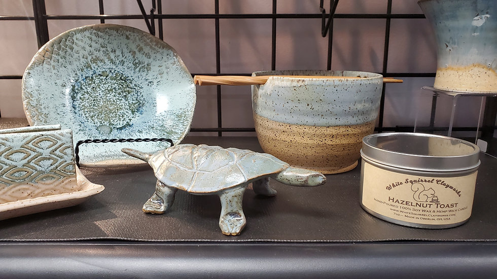 Blue bowls and turtle.jpg